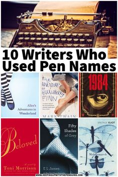 """Pen names remain, for various reasons, very popular – even today. One of my favourite writers, Elena Ferrante, is the most-famous living pseudonymous writer; no one knows who she """"actually"""" is. Here are some other authors you might not know had pen names all along… Best Books List, Good Books, Authors, Writers, History Of English Literature, Best Book Reviews, Elena Ferrante, Adventures Of Huckleberry Finn, Pen Name"""
