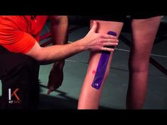 Back of Knee | KT TAPE - Video plus click link to right to download printable instructions.  Potential for ortho as well as ??facilitate/help protect knee for pt w/hyperext from stroke