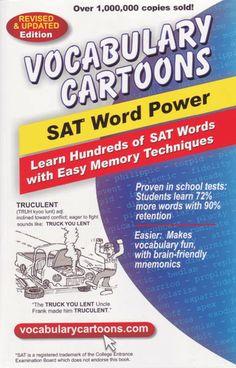 Vocabulary Cartoons - Vocabulary Cartoons, SAT Word Power, $12.95 (http://www.vocabularycartoons.com/vocabulary-cartoons-sat-word-power/)