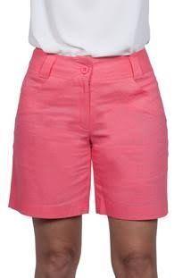 Resultado de imagen para bermudas femininas sociais de linho Red Coral, Bright Pink, City Shorts, Short Skirts, African Fashion, Bermuda Shorts, Plus Size, Lingerie, Stylish