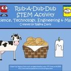 STEM activities may seem daunting when teaching young children. This is a STEM activity that I created to go with the nursery rhyme, Rub-A-Dub-Dub....