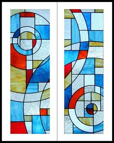 Custom Made Stained Glass Cabinet Door Inserts