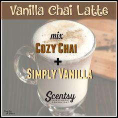 Vanilla Chai Latte Mixology - Flyer by Angela O'Hare. #smellarific