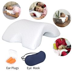 Details: Name: Couple Pillow Material: Ice silk cover slow rebound memory foam pillow ABS plastic steel skeleton Pillow Shape: U-shaped, arched Size: What's In The Box: 1 x Romantic Couple Sleeping Pillow include EyeMask and EarPlugs Cuddle Pillow, Pillow Room, Spooning Pillow, Couple Sleeping, U Shaped Pillow, Side Sleeper Pillow, Foam Pillows, Best Pillow, Rebounding