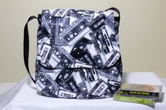 The cassette tapes Rock bag on Etsy, designed by Forever Goth Drawstring Backpack, Goth, Backpacks, Bags, Etsy, Design, Fashion, Goth Subculture, Handbags