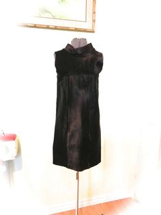 Vintage 60s Couture Black Fur Dress  Rare Cardinale by maybel57