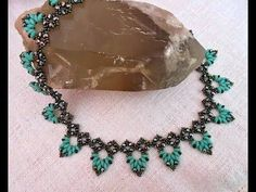 (8) Braga beaded necklace with superduos and rondelles - Beading Tutorial - YouTube