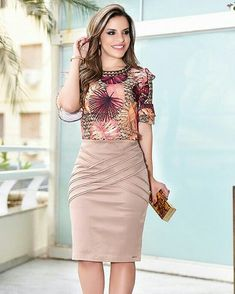 56 Casual Summer Outfits That Always Look Great Classy Work Outfits, Casual Summer Outfits, Office Outfits, Casual Dresses, Couture Dresses, Fashion Dresses, Super Moda, Cute Skirts, Work Attire