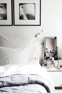 Calm bedroom, neutral colors