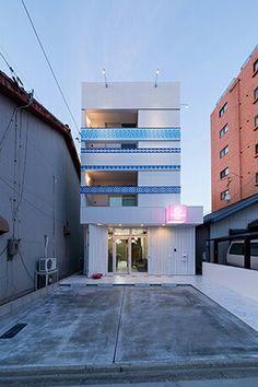 ヘアサロン。店舗付き住宅。店舗デザイン;名古屋 スーパーボギー http://www.bogey.co.jp