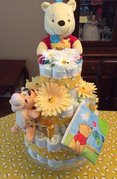 42 super Ideas baby shower ideas for boys winnie the pooh diaper cakes Baby Shower Niño, Boy Baby Shower Themes, Baby Shower Diapers, Baby Shower Gender Reveal, Baby Shower Printables, Baby Shower Cakes, Baby Shower Parties, Baby Boy Shower, Baby Shower Invitations
