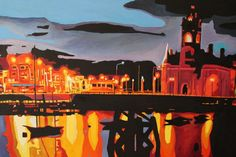 Cardiff Bay , Painting by Emma Cownie | Artfinder