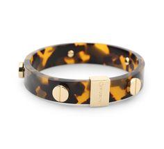 Bangle Bracelets - Signature Screws Tortoise Bangle. C Wonder love