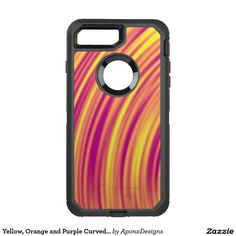 Shop Yellow, Orange and Purple Curved Ripples Pattern OtterBox iPhone Case created by AponxDesigns. Orange And Purple, Yellow, Iphone Case Covers, Cover Design, Pattern, Patterns, Model, Cover Art, Swatch