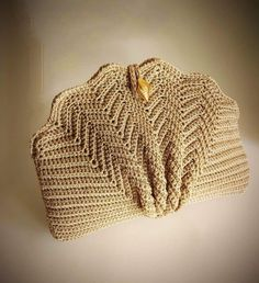 Minimalist Style Crochet Bag,Embossed Leaves Crocheted Tote,Natural Cotton Large Bag,Strong and Flexible Crochet Handbag,Shopper-Market Bag Free Crochet Bag, Crochet Shell Stitch, Crochet Clutch, Crochet Handbags, Crochet Purses, Love Crochet, Vintage Crochet, Hand Crochet, Knit Crochet