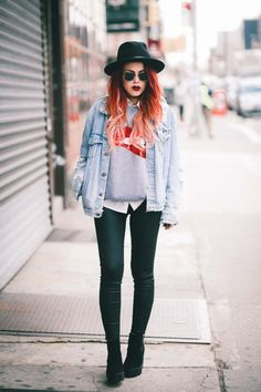 Sweatshirt- Romwe Jacket – Old / similar hereand here Pants – Current Elliot Shoes – Topshop/ similar here Hat – Brixton Sunnies – vintage / same here One of my usual combos. Denim jacket and leather pants with a cool printed top is always a good casual look for every day. I honestly have... View Article
