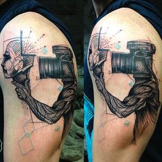 Photography tattoo by Mo Mori. photography camera photo photographer contemporaryart MoMori