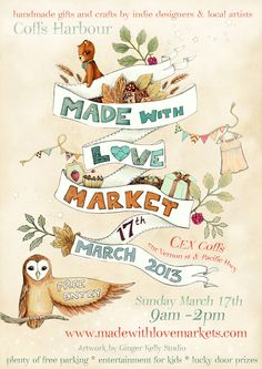 The finished poster design I created for Made With Love Markets!  http://www.facebook.com/madewithlovemarkets