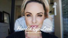Hooded Eye Tutorial    Everyday look for Downturned Eyes - Elle Leary Ar...