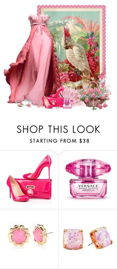 """Pássaro"" by sil-engler ❤ liked on Polyvore featuring Christian Louboutin, Versace and Kate Spade"