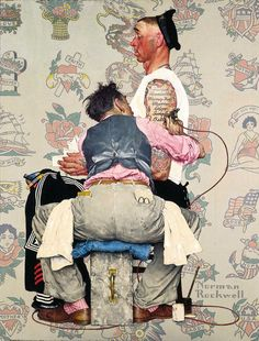 The Tattooist' by Norman Rockwell c. 1944