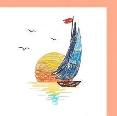 Sail Boat on Sun Set