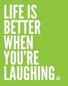 And sometimes you have to laugh in the worst of situations ... to KEEP your sanity.... not because you are losing it!