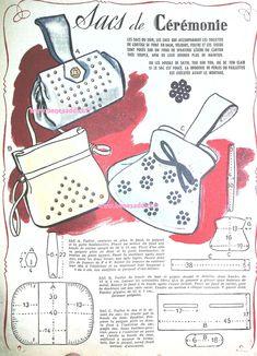 Understanding The Vintage Sewing Pattern - Sewing Method Vintage Purses, Vintage Bags, Purse Patterns, Vintage Sewing Patterns, Sewing Hacks, Sewing Tutorials, Journal Vintage, Patron Vintage, Diy Vintage