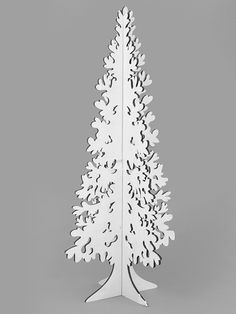 A white wooden Christmas tree from Country Baskets Classic Christmas range.