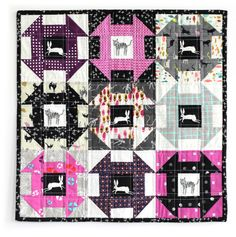 Cotton + Steel Mini Quilt SwapI do love this and I've got several C&S blacks