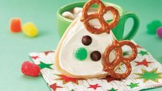Frosted Reindeer Cookies - one of my favorites to make. salty and sweet and cute. I use a red m for the nose instead of a gum drop