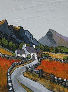 David BARNES - View of Siabod Landscape Art, Landscape Paintings, Folk Art, Modern Art, Art Gallery, Abstract, Winding Road, Sketchers, Pastel