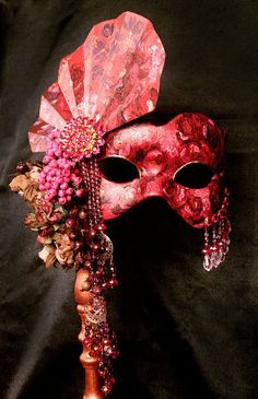 Wine and Roses Victorian Mask