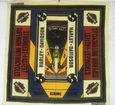 Vintage world war 2 era Army military Harley Davidson bandana handkerchief. Bandana Scarf, Vintage Harley Davidson, Bandanas, World War, Old Things, Women's Clothes, Retro, Diecast, Sports