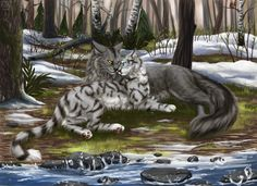 Graystripe and Silverstream Plume Grise et Rivière d'Argent Warrior Cats Fan Art, Warrior Cats Series, Warrior Cats Books, Warrior Cat Drawings, World Of Warriors, Love Warriors, Cat Comics, Cat Character, Fanart