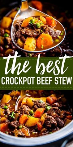 Serve up a hot meal without the fuss for your family tonight: This crock pot beef stew is the perfect easy comfort food. It is simple to prepare in the slow cooker, made entirely from scratch for a healthy dinner! It is the best kind of meal you can sit d Best Crockpot Beef Stew, Slow Cooker Beef, Beef Stee Crockpot, Slowcooker Beef Stew, Crockpot Recipes Stew, Instapot Beef Stew, Recipes With Beef Stew Meat, Irish Stew Slow Cooker, Keto Beef Stew