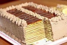 - Doboš torta – recept You have a cake Cupcake Recipes, Cookie Recipes, Cupcake Cakes, Dessert Recipes, Dobos Torte Recipe, Doberge Cake, Dirt Cake, Cake, Deserts