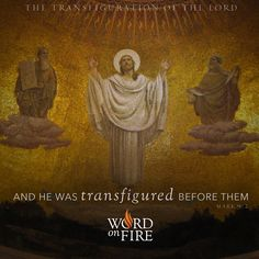 """The Transfiguration of the Lord """"And he was transfigured before them. Holy Thursday, Holy Saturday, Thomas Aquinas Quotes, Transfiguration Of Jesus, Jesus Our Savior, God Jesus, Pictures Of Jesus Christ, Faith In Love, Catholic Art"""