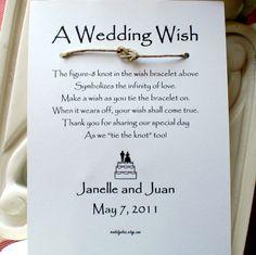 Custom listing for Jamie 5 WISH BRACELET Wedding by madebydina, $10.00