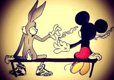 Bos bony and Mickey mouse Smoking