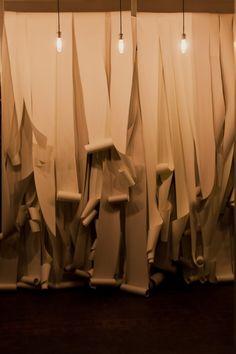paper ceremony backdrop , pinned by Ton van der Veer Wedding Gallery, Wedding Blog, Wedding Photos, Paper Backdrop, Ceremony Backdrop, Wedding Backdrops, Paper Decorations, Wedding Decorations, Visual Display