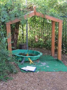 use an arbour as a shelter for outdoor play