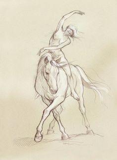 : SandyHorse - Dream Riders by Sandy Rabinowitz Horse Pencil Drawing, Horse Drawings, Animal Drawings, Art Drawings, Animal Sketches, Art Sketches, Horse Sketch, Horse Posters, Equine Art