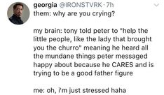 Tony being a dad