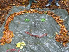"""Using leaves to create transient art... from Niki Willows - Outside ("""",)"""