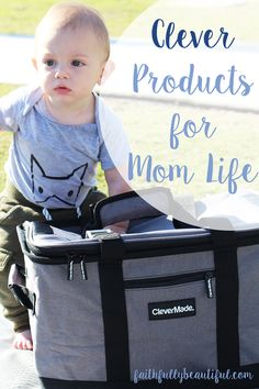 Clever Products for Mom Life, Portable Cooler, Lightweight cooler, Products for moms, Picnic Products, Outings with Kids, Park Days with Kids, Picnic with Kids, For Kids, Babies, #sp @Clever_Made
