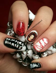 Vampire Diaries - Inspired nails