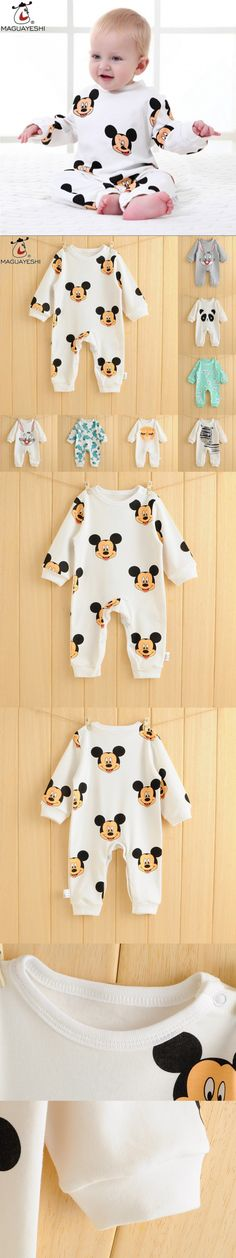 Newborn Baby Rompers Cute Cartoon Spring Autumn Long Sleeve Baby Clothing Newborn Jumpsuits Suits Outfits For Baby Girls Clothes $8.98