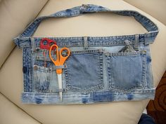 Braiding Apron | Braiding apron made from cast off blue jean… | Ann | Flickr denim jeans recycle upcycle