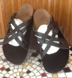 Papillio Black Strappy Faux LTHR/SUEDE Clog Size 36 US 6 Excellent Cond L@@K #Fashion #Style #Deal